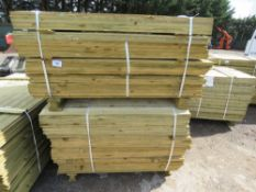 2 X LARGE PACKS OF FEATHER EDGE CLADDING TIMBER 1.34 AND 1.2 METRES LENGTH X 10CM WIDE