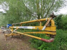 CIFA SP125 placing boom on stand, 35ft reach approx.