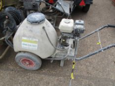 HONDA ENGINED PRESSURE WASHER BARROW, PETROL ENGINE. WHEN TESTED WAS SEEN TO RUN AND PUMP