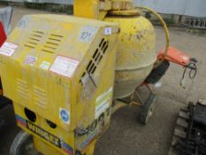 WINGET 110T DIESEL SITE MIXER WITH YANMAR ENGINE. WHEN TESTED WAS SEEN TO RUN BUT DRUM NOT TURNIN