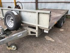ifor williams lm146g twin axled plant trailer, year 2012
