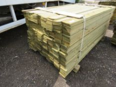 LARGE PACK OF FEATHER EDGE CLADDING TIMBER 1.8METRES LENGTH X 10CM WIDE