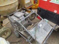 DIESEL ENGINED PRESSURE WASHER BARROW. WHEN TESTED WAS SEEN TO RUN BUT PUMP NOT TESTED..NO WATER