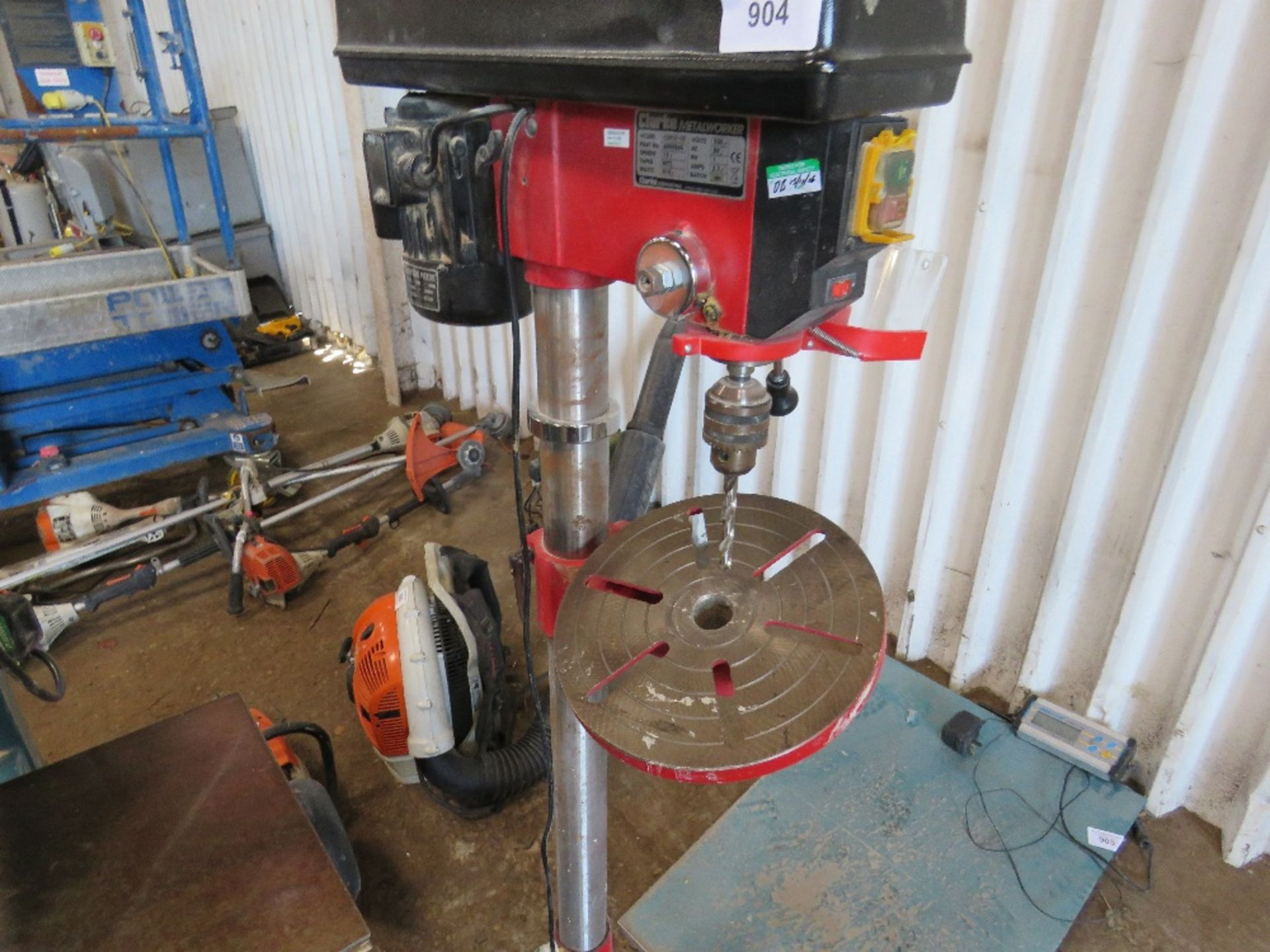 Lot 904 - CLARKE METALWORKER 240VOLT PILLAR DRILL....EX COMPANY LIQUIDATION