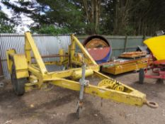 SEB YELLOW LARGE SIZED CABLE DRUM TRAILER..DIRECT EX LOCAL COMPANY