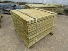 LARGE PACK OF SHIPLAP FENCE CLADDING TIMBER, 1.11M LONG X 9.5CM WIDE X 1.5CM DEPTH APPROX
