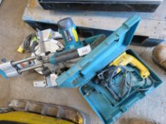 MAKITA 110VOLT MITRE SAW PLUS DRILL