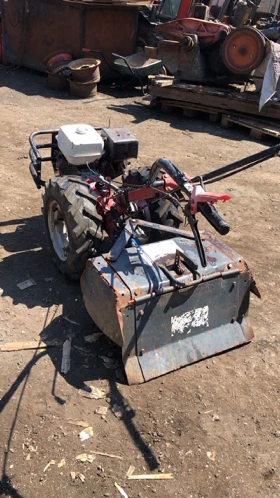 Lot 260 - CAMON HEAVY DUTY HONDA ENGINED ROTORVATOR. WHEN TESTED WAS SEEN TO RUN, DRIVE AND BLADES TURNED