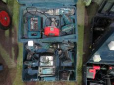 2 X MAKITA BATTERY DRILLS IN CASES