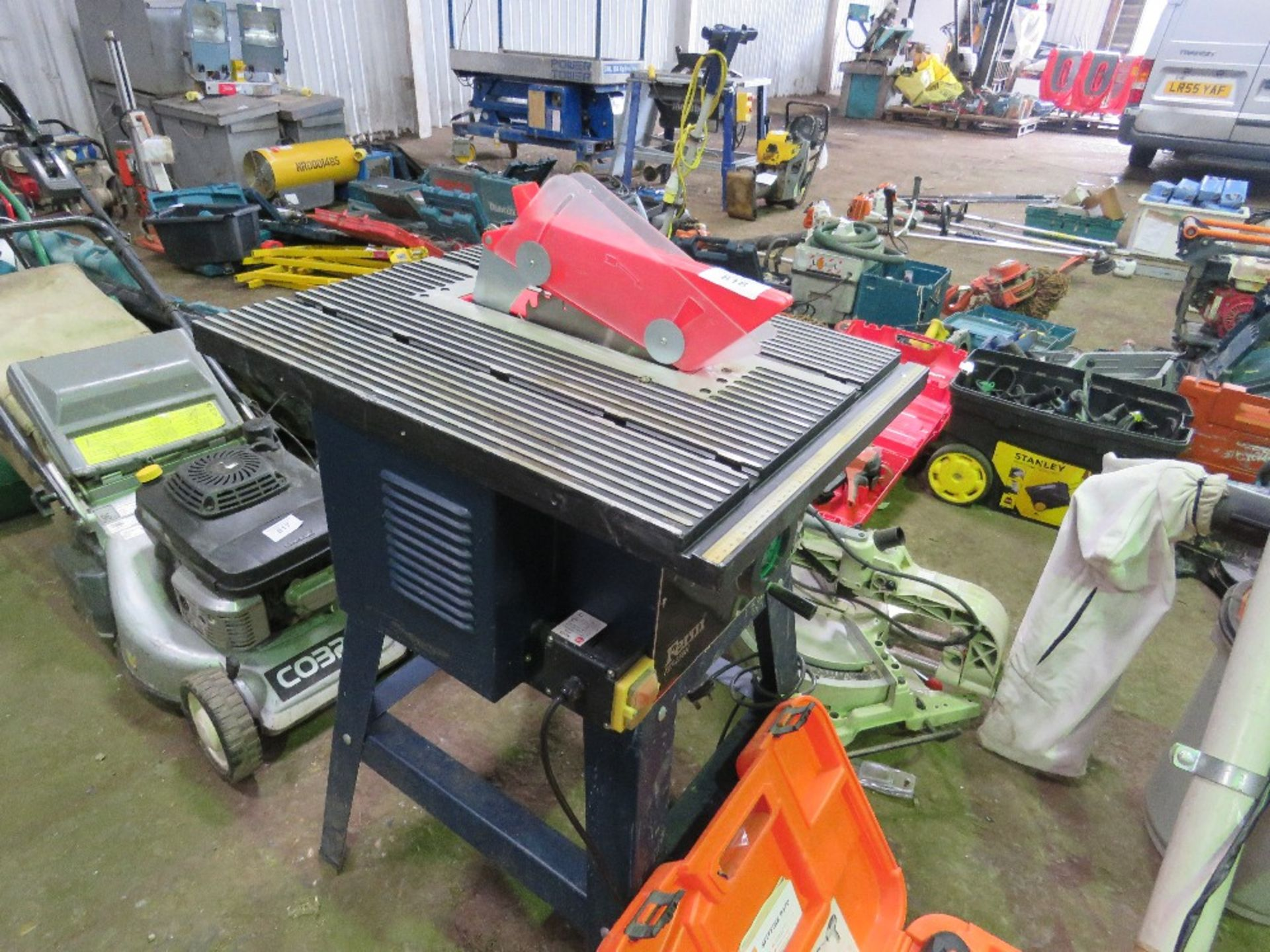 Lot 818 - FERM SMALL SIZED HOBBY SAWBENCH, 240 VOLT.