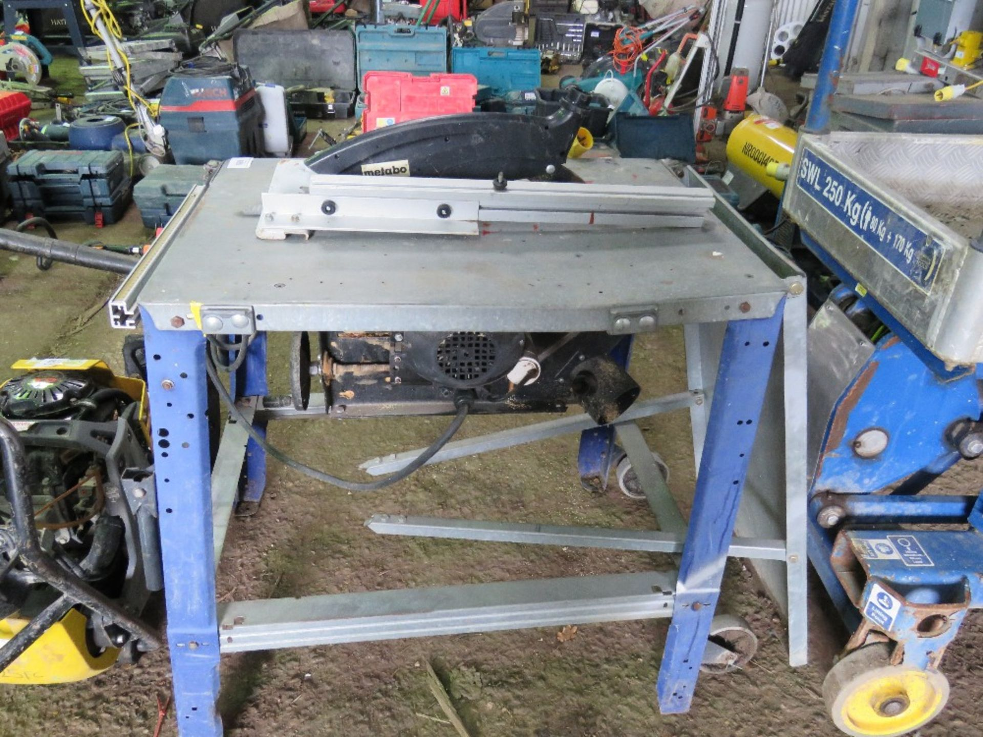Lot 869 - METABO 110VOLT SAWBENCH