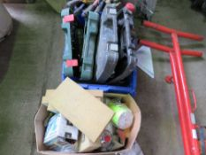 Box of grouting sponges, power tools, hand tools and sundry items...sourced frm company liquidation