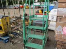 WHEELED STEPS PLUS CAGED TROLLEY