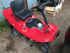 red ride on mower