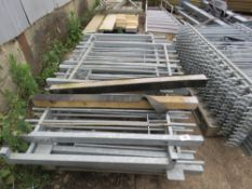 9 x metal entrance gates , galvanised, 0.9m wide x 1.2m height