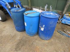 """3 X LARGE PLASTIC DRUMS................................... ADDITIONAL TERMS: All items """"sold as"""