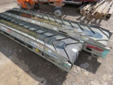 2 X MINI-MAXI MUCK CONVEYORS CIRCA 10FT LENGTH EACH