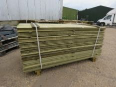 LARGE PACK OF SHIPLAP FENCE CLADDING TIMBER, 1.73M LONG X 9.5CM WIDE X 1.5CM DEPTH APPROX