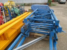 LARGE QUANTITY OF PALLET RACKING INCLUDING BEAMS, UPRIGHTS AND BOARDS EX COMPANY LIQUIDATION.
