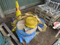 PALLET OF LAY FLAT HOSE PLUS ROAD CONES................................... ADDITIONAL TERMS: All