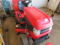 WESTWOOD RIDE ON MOWER WITH COLLECTOR. WHEN TESTED WAS SEEN TO DRIVE AND MOWERS TURNED. HYDROSTATIC