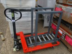 ATLET PALLET TRUCK ADAPTED TO CARRY BATTERIES, LITTLE USED