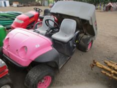 TORO 2WD PETROL UTILITY VEHCLE, ELECTRIC TIPPING SEEN WORKING...NOT STARTING, CONDITION UNKNOWN