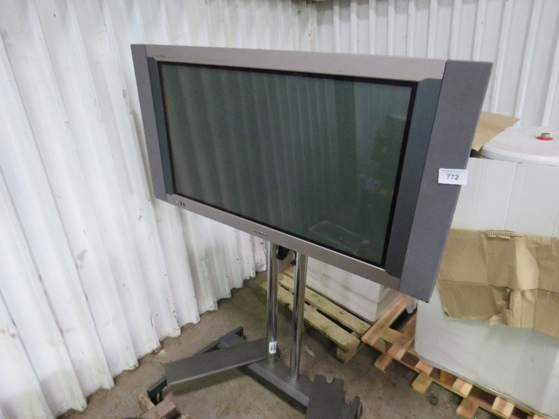 Lot 772 - DAEWOO PLASMA SCREEN ON STAND...UNTESTED..CONDITION UNKNOWN