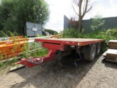 Truckmate lorry drawbar trailer, 17ft bed approx., long test, yr1999