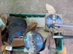 LARGE QUANTITY OF GRINDING/CUTTING DISCS
