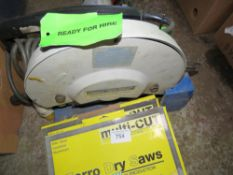 110VOLT METAL CUTTING SAW WITH SPARE BLADES. DIRECT FROM LOCAL COMPANY DUE TO DEPOT CLOSURE.