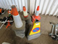 4 X STACKS OF ASSORTED ROAD CONES. DIRECT FROM LOCAL COMPANY DUE TO DEPOT CLOSURE.