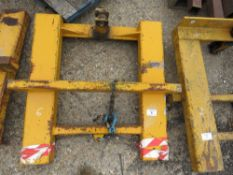 FORKLIFT MOUNTED FRAME TO TAKE HOOK OR CANTILVER BLOCK GRAB