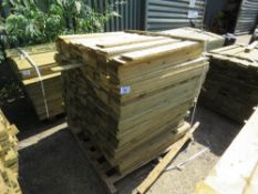 1 X BUNDLE OF FEATHER EDGE TIMBER CLADDING. 0.9M X 10CM SIZE