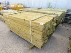 PACK OF FEATHER EDGE CLADDING TIMBER. 1.8 METRES LENGTH X 10CM WIDE.