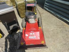 SWISHER ROUGH CUT MOWER. WHEN TESTED WAS SEEN TO RUN AND CUT....OFF SWITCH NEEDS ATTENTION.