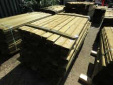 1 X BUNDLE OF FEATHER EDGE TIMBER CLADDING. 1.8M X 10CM SIZE