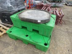 2 X ALIBERT DRIP TRAYS PLUS 2 X MORTAR MIXING BASE TRAYS. DIRECT FROM LOCAL COMPANY DUE TO DEPOT CLO