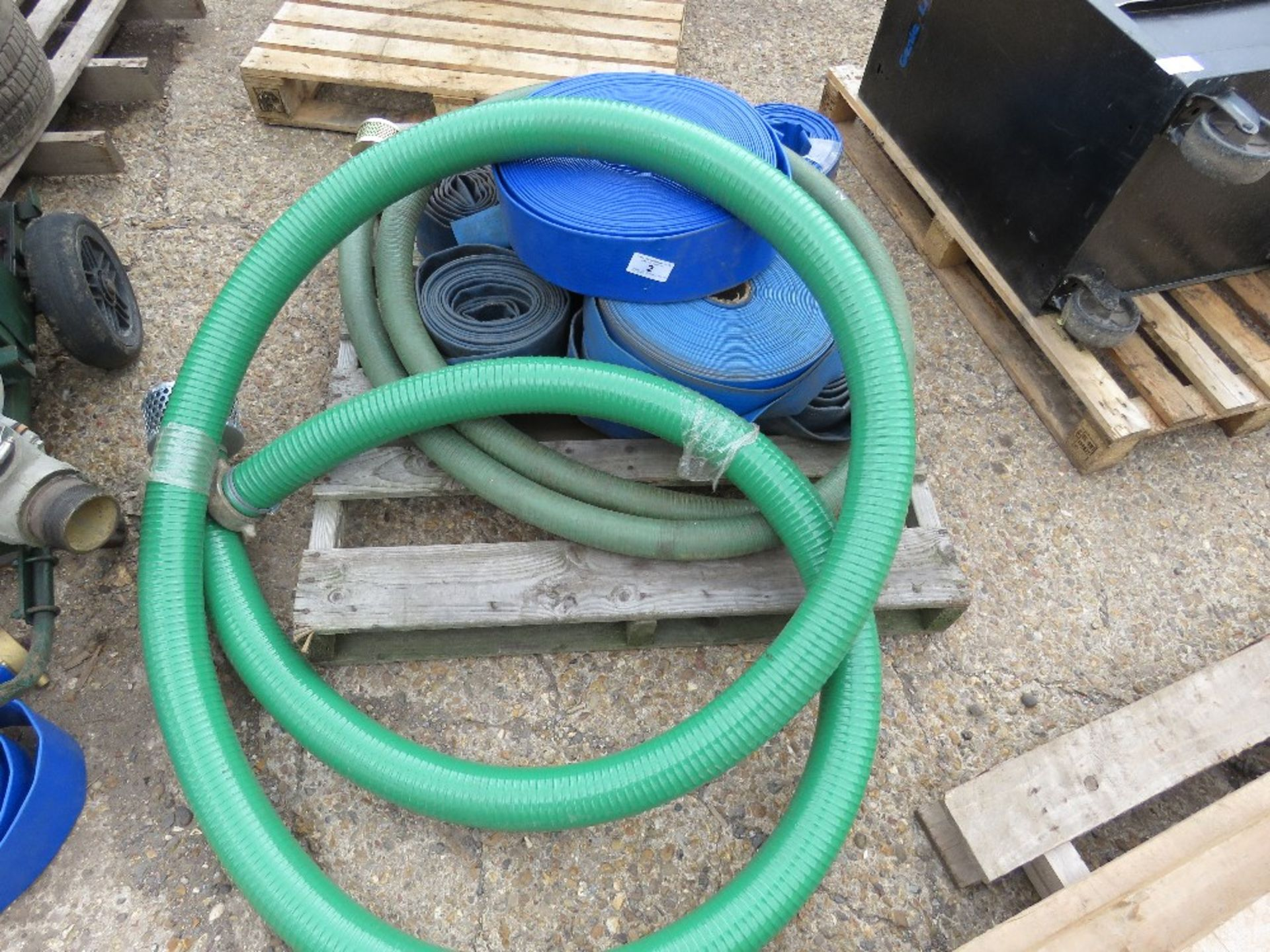 PALLET OF LAYFLAT HOSES PLUS A SUCTION HOSE. DIRECT FROM LOCAL COMPANY DUE TO DEPOT CLOSURE - Image 2 of 2