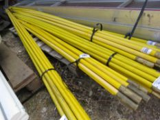 SET OF 10 X HEAVY DUTY DRAIN RODS. 10FT LENGTH APPROX.