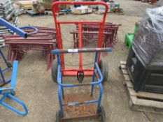 2 X GAS BOTTLE TROLLEYS. DIRECT FROM LOCAL COMPANY DUE TO DEPOT CLOSURE