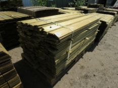 1 X BUNDLE OF SHIPLAP TIMBER CLADDING. 1.75M X 10CM X 1.5CM SIZE