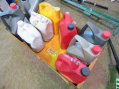 9 X ASSORTED OILS, LUBRIANTS AND ANTI-FREEZE. DIRECT FROM LOCAL COMPANY DUE TO DEPOT CLOSURE.
