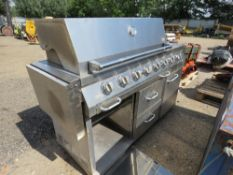 LARGE STAINLESS STEEL BBQ.