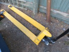 LONG BLADED PALLET TRUCK. DIRECT EX LOCAL COMPANY.