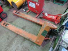 PALLET TRUCK. DIRECT EX LOCAL COMPANY DUE TO DEPOT CLOSURE