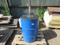 OIL DRUM WITH HAND PUMP. DIRECT FROM LOCAL COMPANY DUE TO DEPOT CLOSURE.