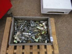 BOX OF HERAS TYPE TEMPORARY FENCE CLIPS. DIRECT FROM LOCAL COMPANY DUE TO DEPOT CLOSURE