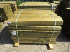 1 X BUNDLE OF FEATHER EDGE TIMBER CLADDING. 1.2M X 10CM SIZE