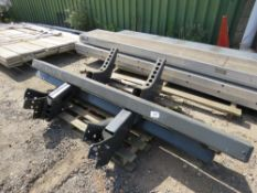 3 X LORRY REAR BUMPERS.